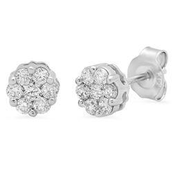 14k Gold 0.49CTW Diamond Earrings, (SI1/H-I)