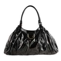 Gucci Abbey D-ring Black Patent Leather Hobo Bag