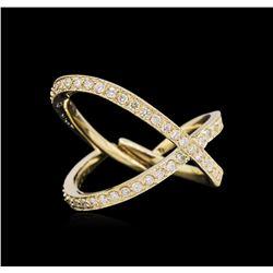 0.45 ctw Diamond Ring - 14KT Yellow Gold