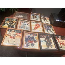 Lot of 11 framed NHL photos