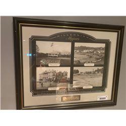 Millenium Majors framed vintage poster