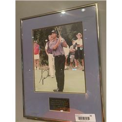 Framed & Signed Tiger Woods Picture