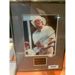 Framed & Signed Photo with certificateof Greg Norman