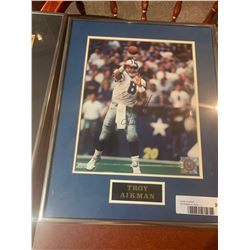 Framed & Signed Photo with certificate of Troy Aikman