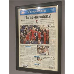 Framed Chicago tribune Chicago Bulls Champs