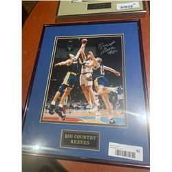 Framed and Signed with certificate -Big Country Reeves