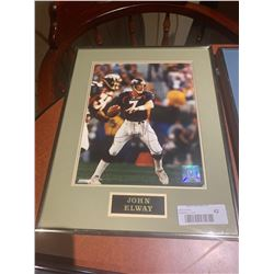 Framed and Signed with certificate - John Elway