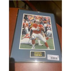 Framed and Signed with certificate - Steve young