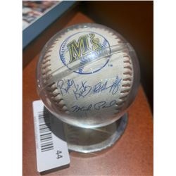 Signed Mariners Cased baseball