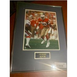 Framed and Signed with certificate - Jerry Rice