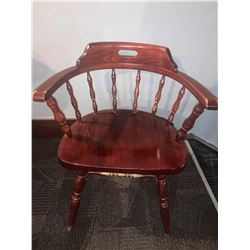 Solid Wood Spindle Back Restaurant Arm Chair