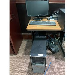 HP Desk top computer with monitor & keyboard ( specs unknown)