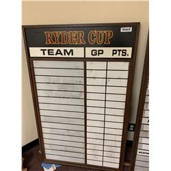 Ryder cup tally sign 4ftx2ft