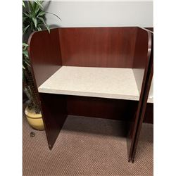 """Cubicle private work station - 34"""" wide"""