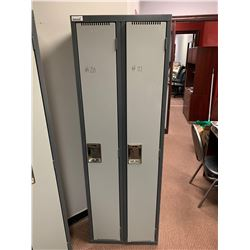 Bank of 2 full double lockers ( approx 6ft high)