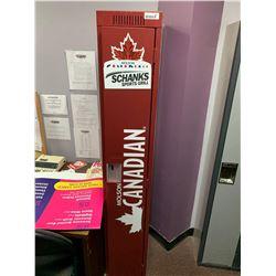 Red 6 ft single door locker