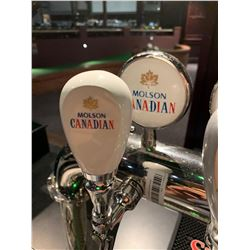Lot of 2 - Beer Tap Head & Plaque - Molson Canadian
