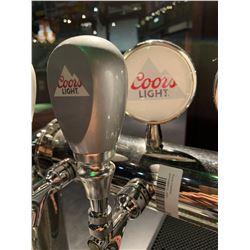 Lot of 2 - Beer Tap Head & Plaque - Coors Light