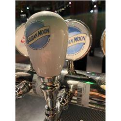 Lot of 2 - Beer Tap Head & Plaque - Belgian Moon