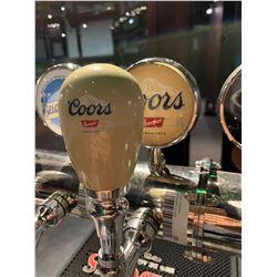 Lot of 2 - Beer Tap Head & Plaque - Coors