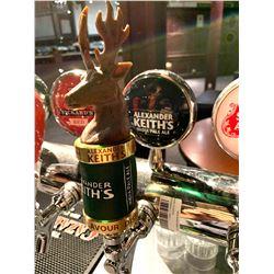 Lot of 2 - Beer Tap Head & Plaque - Alexander keith