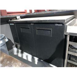 True double door back bar cooler.