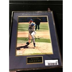 Framed & Signed picture with certificate - Roger Clemens