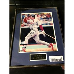 Framed & Signed picture with certificate - Mark McGwire