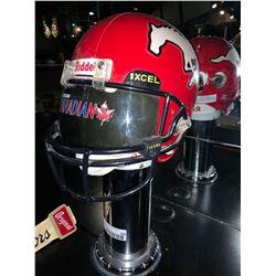 Calgary Stampeders Display Helmet on Pedestal - buyer must disconnect