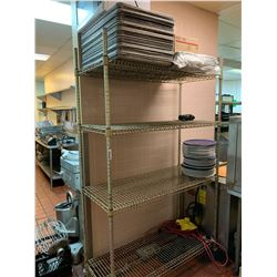 Metro Rack with contents - baking trays and plates