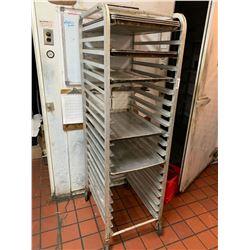 Rolling Aluminum Bakers Rack