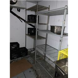 Lot of 2 - metro and wire shelving units