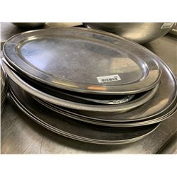 Lot of 10 large oval service trays