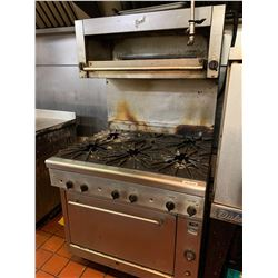 Quest Commercial Gas 6 burner range and oven includes quest Salamander. NOTE: ALL DISCONNECTIONS MUS