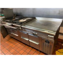 Quest commercial 48 inch char broiler & 48 inch gas griddle combo unit with drawers. 