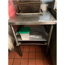 Stainless 24 inch work table with back splash