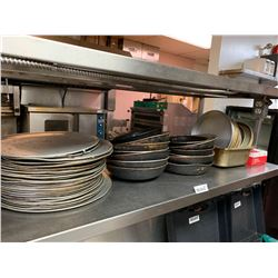 Lot of Pizza pans, fry pans incudes 4 stacks