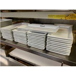 Lot of 40 rectangular restaurant appetizer plates