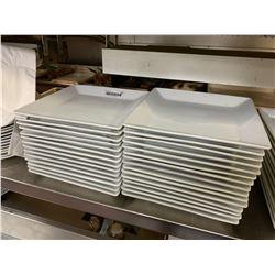 Lot of 28 large square restaurant dinner plates