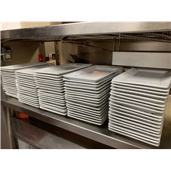 Lot of 80 rectangular (short) appetizer plates