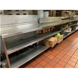 Stainless 24 ft shelving unit - 3 sections of 8 ft.  NOTE: ALL DISCONNECTIONS MUST BE COMPLETED BY L
