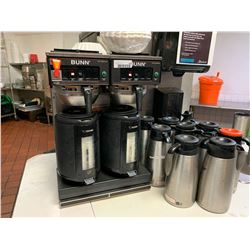 Bunn Double Brew coffee system with 8 carafs and 2 brew pots