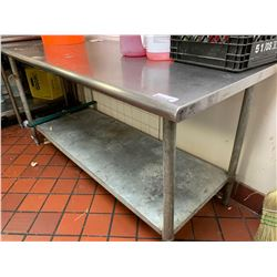 Stainless 6 foot work table