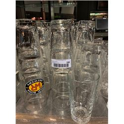 Lot of approx.48 large beer glasses