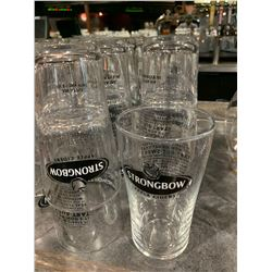 Lot of 28 Strongbow beer pint glasses