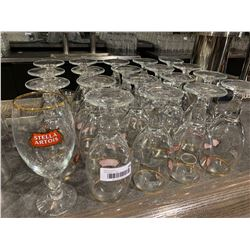 Lot of 20 Stella Artois Beer Glasses
