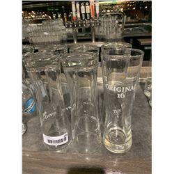 lot of 6 Original 16 beer pint glasses