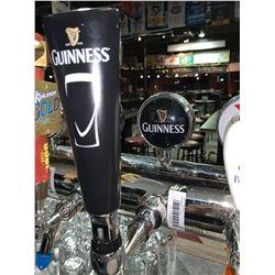 Lot of 2 beer tap handle & display plaque - Guiness