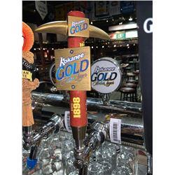 Lot of 2 beer tap handle & display plaque - Kokanee Gold