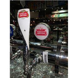 Lot of 2 beer tap handle & display plaque - Stella Artois